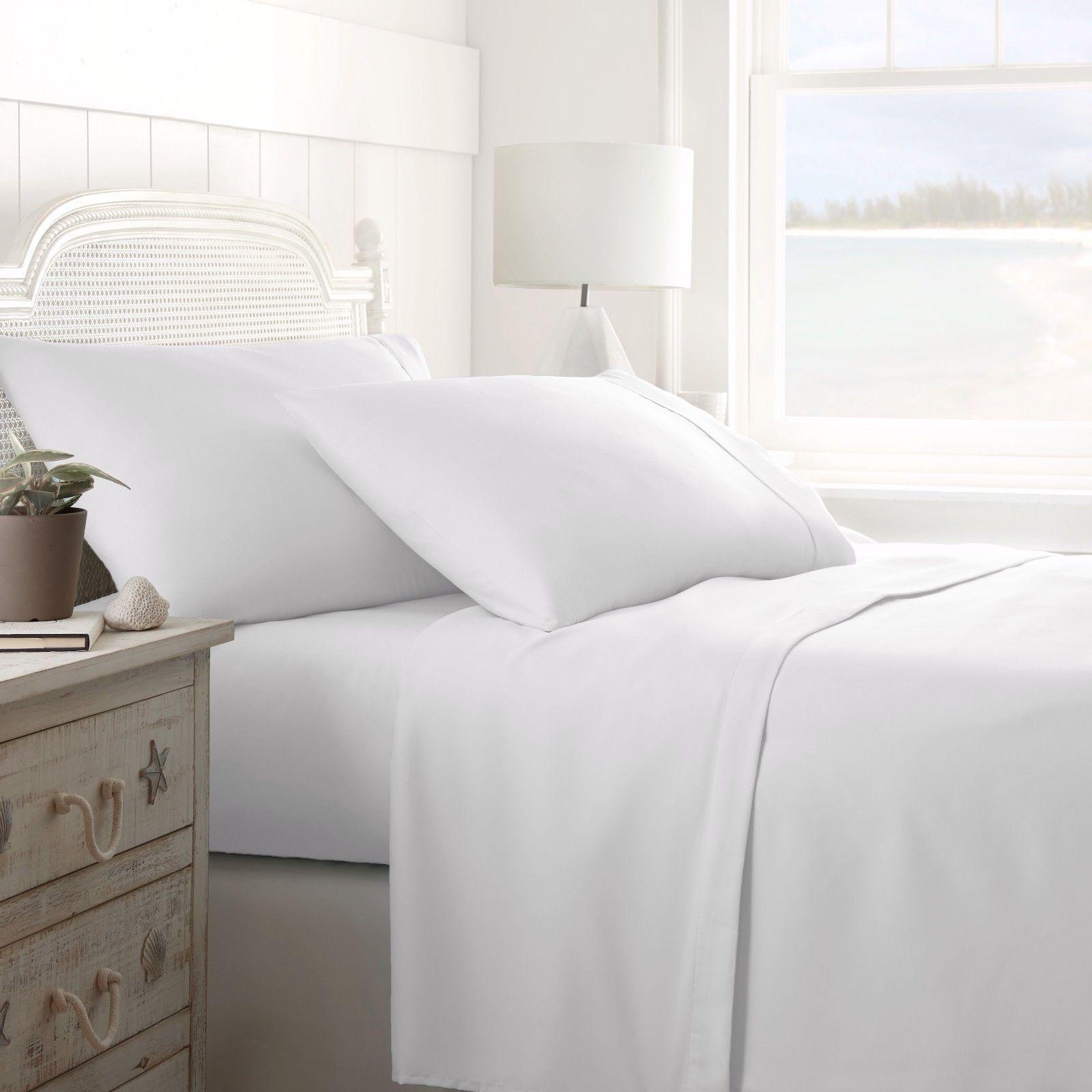 White Solid Extra Deep Pkt Sheet set 1000TC Egyptian Cotton