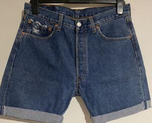 Vintage-Levis-501-Herren-Roden-Shorts-UK-w32-Inch-Klasse-A