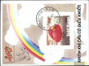 Vietnam-Block84-kompl-Ausg-gestempelt-1990-HELVETIA-GENEVE-90