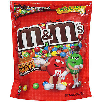 M&M's Peanut Butter Bulk Vending Candy 46 Ounce Bag
