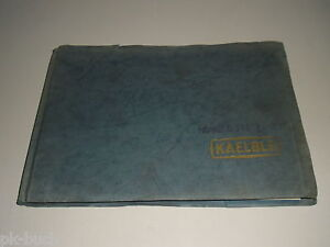 Spare Parts Catalog/Parts List Kaelble 2-Achs-Hinterkipper Kw 35 Stand 06/1970
