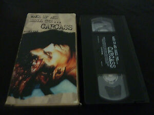 WAKE UP AND SMELL THE CARCASS ULTRA RARE USA NTSC VHS