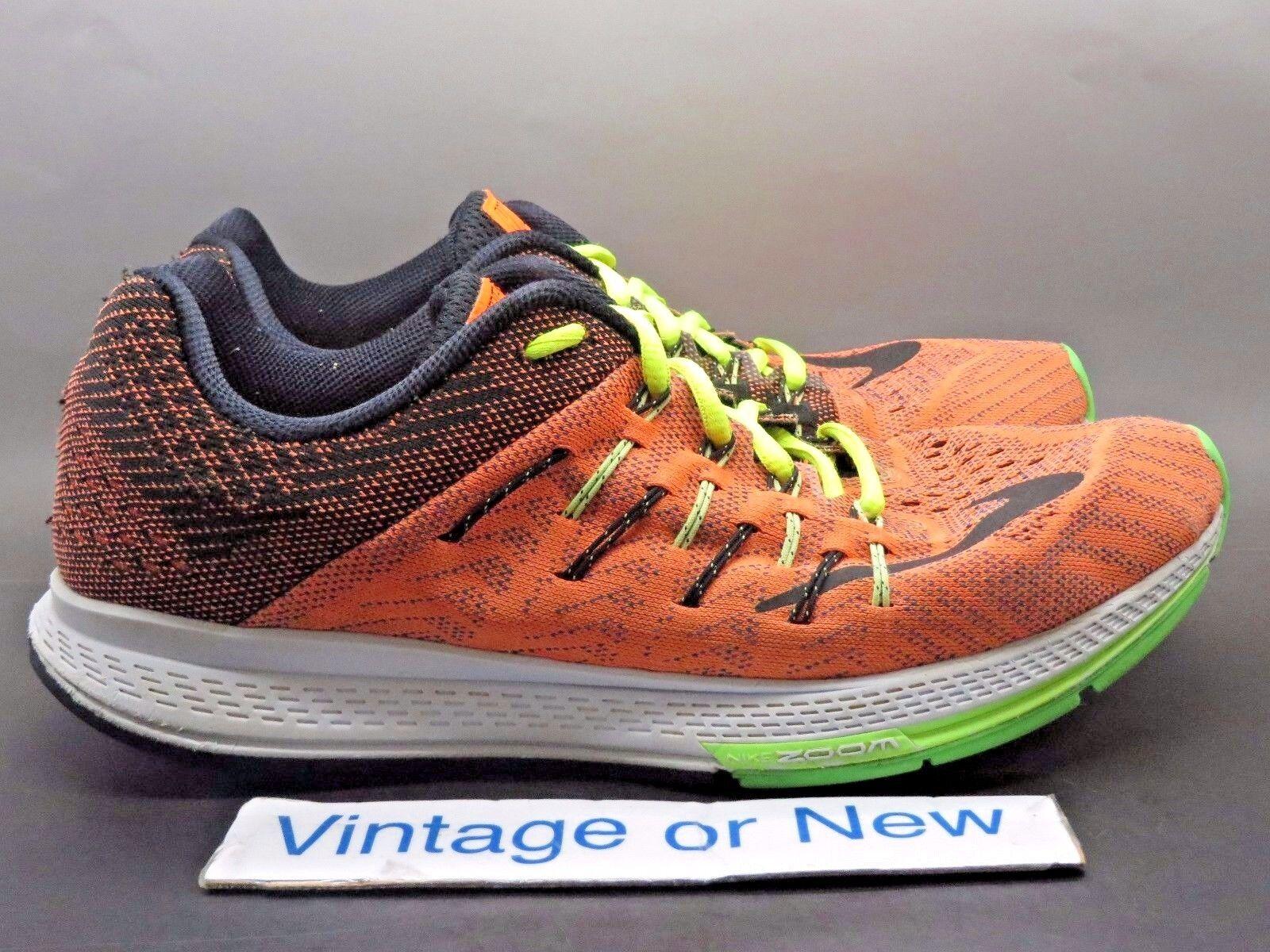 Men's Nike Zoom Elite 8 Total Orange Black Ghost Green Running 748588-803 Price reduction best-selling model of the brand
