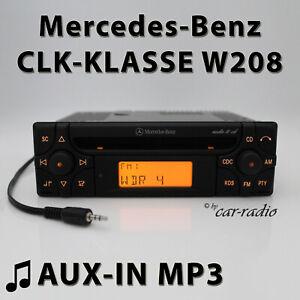 Mercedes-audio-10-CD-mf2910-Aux-in-mp3-w208-autoradio-CLK-Klasse-c208-CD-R-radio