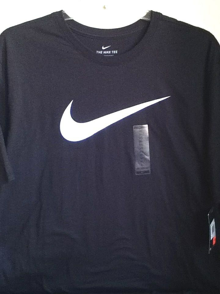 9b7a060cfcc NIKE CHARCOAL WHITE T SHIRT AO2991-032 AUTHENTIC SWOOSH nnyhcg4210-T ...