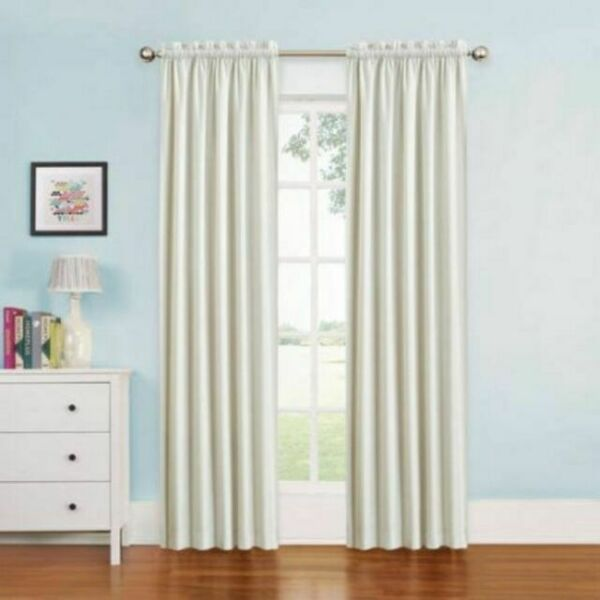 """Eclipse Kids Quinn Curtain Panel, 42"""" X 63"""", White For"""