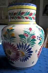 Vase Quimper HB décor de fleurs