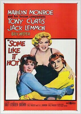 A Qualcuno Piace Caldo Monroe Vintage Movie Grande Poster Art Print Maxi A1 A2 A3 A4- Può Essere Ripetutamente Ripetuto.