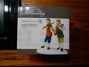 DEPT 56 WILLIAMSBURG VILLAGE Accessory FIFES AND DRUMS NIB