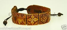 Klasse Armband braun Armschmuck Symbol Handarbeit Nepal s32