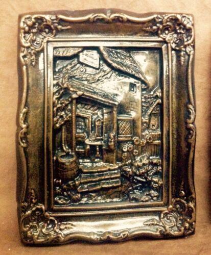 Old Mill Framed Wall Sculpture Vintage Bronze Finish