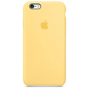 af9b917382d Authentic Apple iPhone 6s Silicone Case Yellow for sale online | eBay