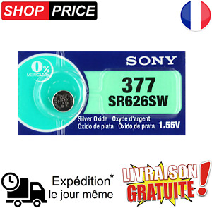 Piles Bouton Montre Sony 377 Argent Ag4 Sr66 Lr626 376 Sr626sw Sr626 V377