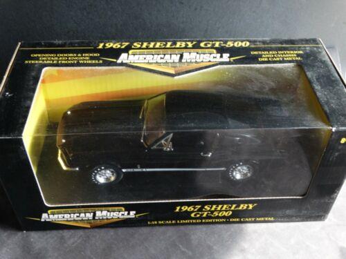 Ertl American Muscle 1967 Shelby Cobra GT-500 1:18 Scale Diecast Model Car Black