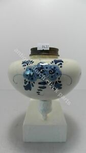 POTTERY-ANTIQUE-BLUE-DELFT-OIL-KEROSENE-OR-PARAFFIN-TANK-FOR-OIL-LAMP