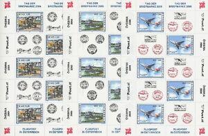 OSTERREICH-TAG-DER-BRIEFMARKE-KLEINBOGEN-2004-2005-2006-FLUGZEUGE-AIRPLANES