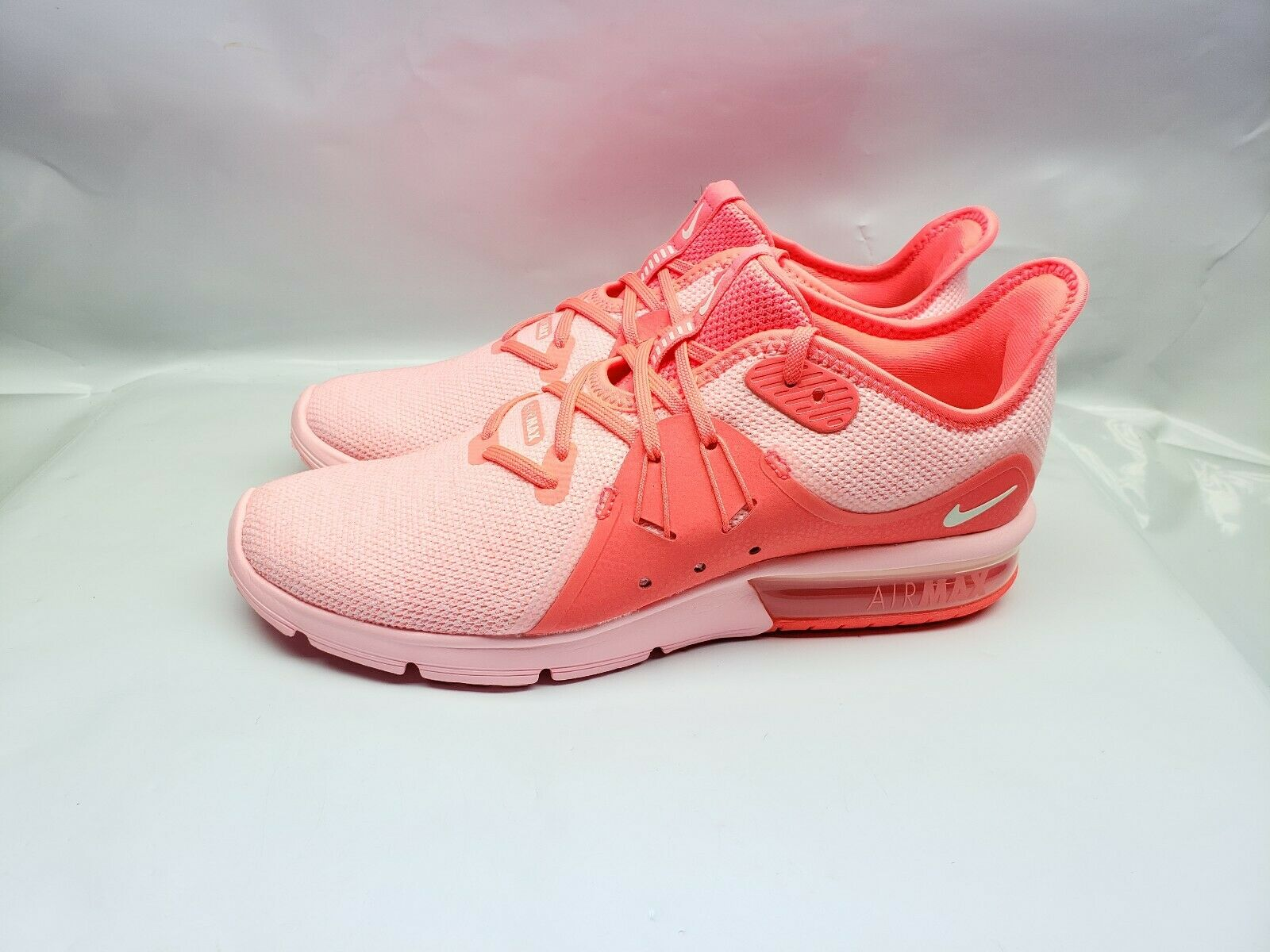 Nike Air Max Sequent 3 Women's Running shoes Size 9.5 Hot Punch Pink 908993 601
