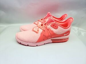 Details about Nike Air Max Sequent 3 Women's Running Shoe Size 9.5 Hot Punch Pink 908993 601
