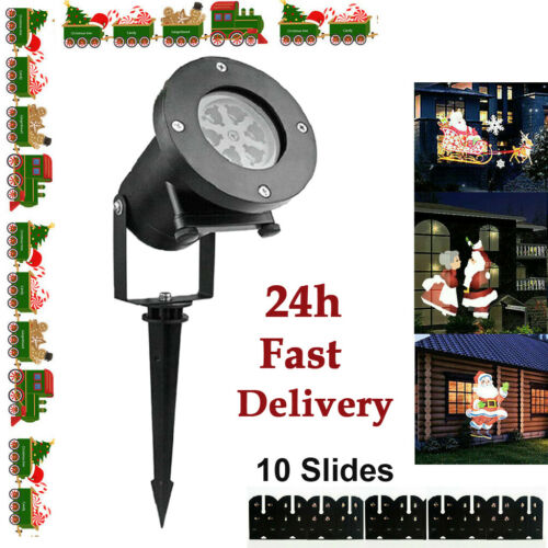 10 Moving Laser Projector Lamp Christmas Outdoor New Year Xmas Light LED Decor