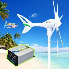 Apollo 550 W 24 V AC Magnet Wind Turbine Generator 6 Blade + Hybrid Controller