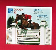 1999  CANADIAN  HORSES CANADA STAMPS  BOOKLET  # 1795 to 1798  BK220  L950