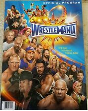 WWE Wrestlemania 33 - Official Arena Program - Ships March 4th - Thrill Ride NXT