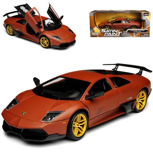 Lamborghini Murcielago LP 670-4 SV Matt Braun 2001-2010 1//24 Motormax Modell A..