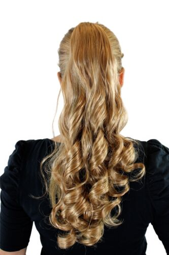 Pigtail Ponytail Blonde Mix Butterfly Clip Curls Curly Curly 50cm SC27