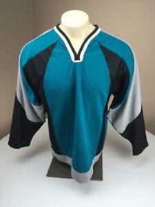 EUC Vintage CCM Blank Retro Anaheim Mighty Ducks LS Hockey Jersey ... 22eb26e45