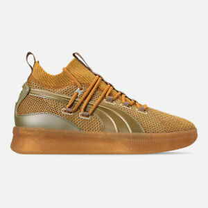 best service bf3b0 f58ec Image is loading Puma-Clyde-Court-Title-Run-in-Metallic-Gold-