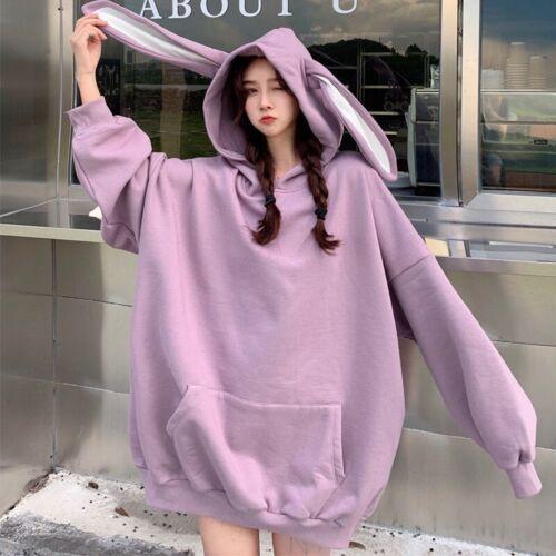 Japanese women Loose long sleeve ear top Hooded Sweater Lolita dress Autumn hot
