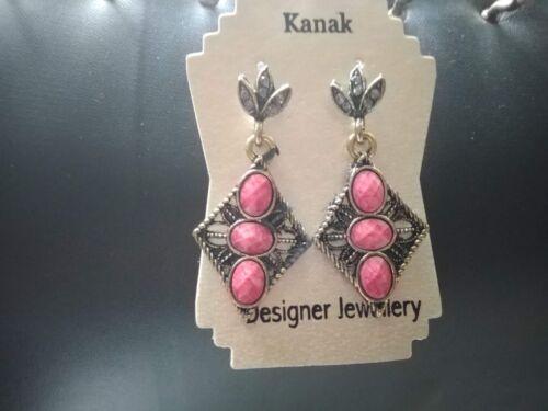 Indian Earrings Jhumka Colorful Drop Dangle Bridal Traditional Bohemian Jewelry