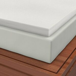 soft sleeper 5 5 twin 4 inch memory foam mattress pad ebay. Black Bedroom Furniture Sets. Home Design Ideas
