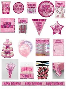 Happy-Birthday-Pink-Glitz-Party-Range-Party-Plates-Napkins-Banners-Cups