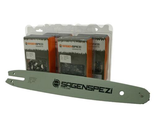 """4 Ketten passend für Stihl MS 171 MS 181 MS 211 35cm 3//8/"""" 50TG 1,1 bar Schwert"""