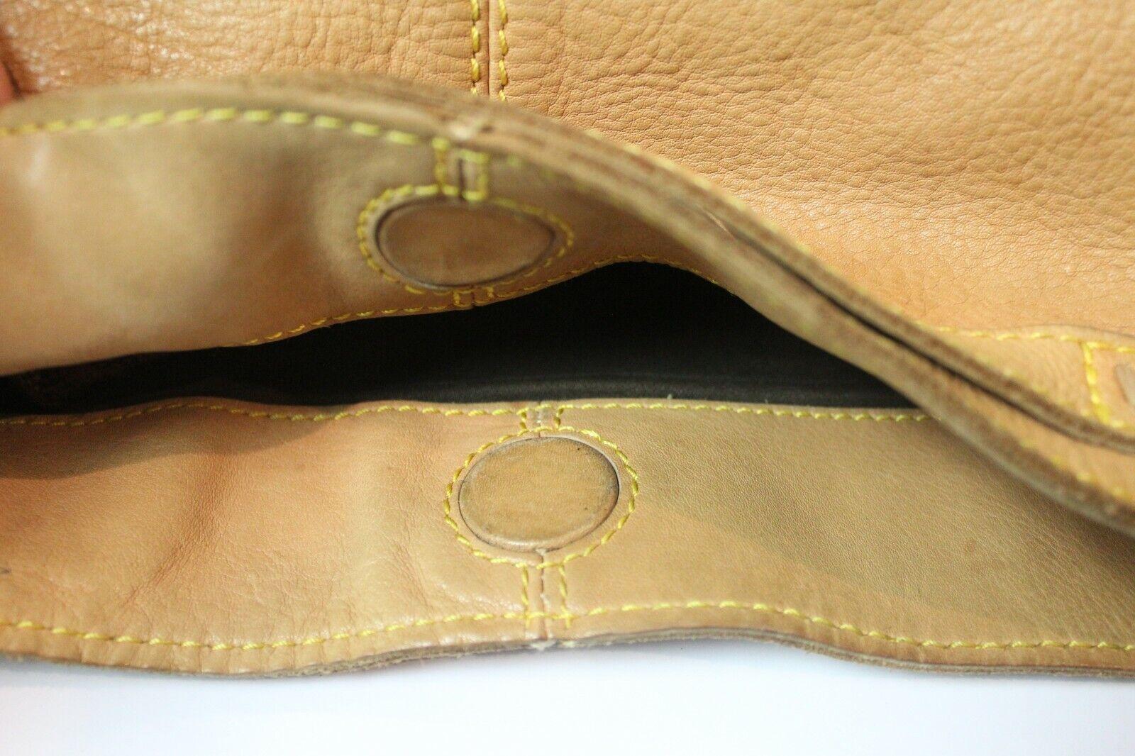 49 Square Miles Tan Leather Bag Hobo Large Bag - image 7