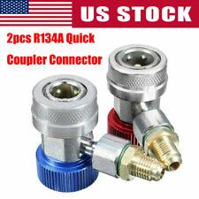 2pcs R134a Quick Connector Adapter Coupler Auto A Manifold Gauge Low High Hvac
