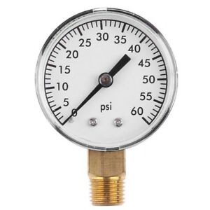 Ee-0-60PSI-2INCH-Cara-Aire-Compresor-Manometro-Probador-1-4IN-Npt-Lado-Montaje