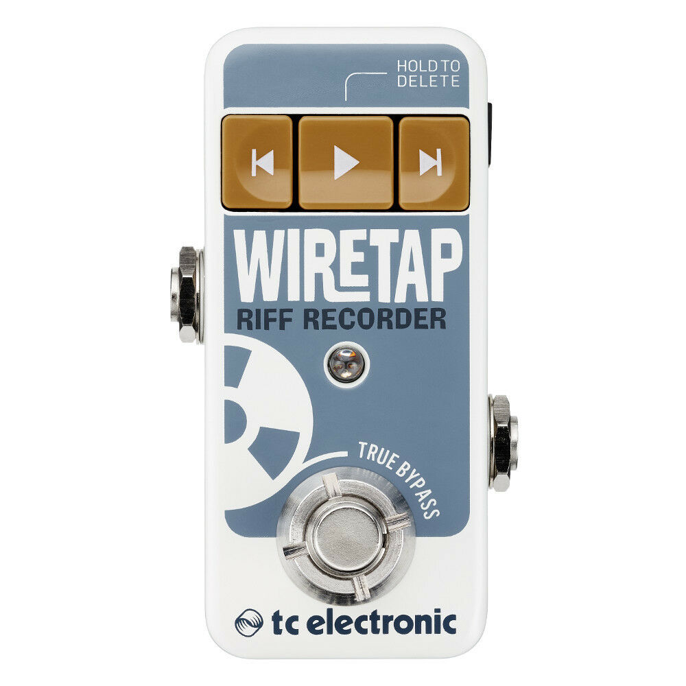TC Electronic WireTap Riff Recorder Blautooth Stompbox Guitar Effects Pedal