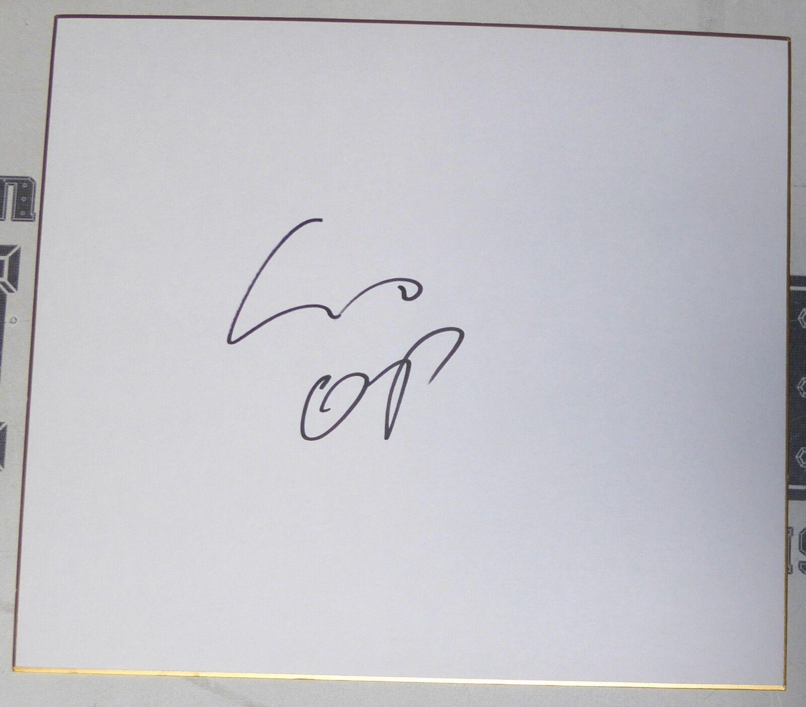 Mirko cro cop Filipovic signed japanese shikishi art board psa dna coa