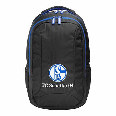27701 Rucksack königsblau, schwarz, Tasche, Schulrucksack vom FC Schalke 04