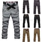 New Men's Slim Fit Straight-Leg Jeans Plain Trousers Casual Skinny Pencil Pants