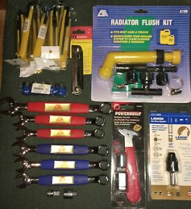 Details about LOT OF 6 PT WRENCHES, SOCKETS, RADIATOR FLUSH KIT,  EXTENSIONS, BOX CUTTERS, PLUS