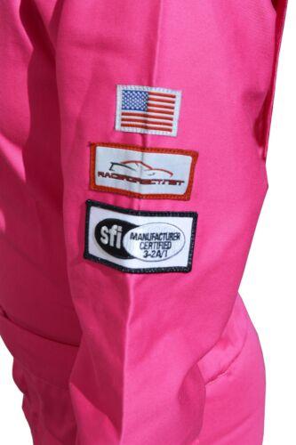 PINK KIDS FIRE SUIT RACE SUIT 2 PIECE JACKET /& PANTS SFI 3.2A//1 SIZE 10//12