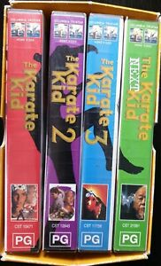 The-Karate-Kid-Trilogy-VHS-Collector-039-s-Edition-1990-Parts-1-2-3-Ralph-Macchio