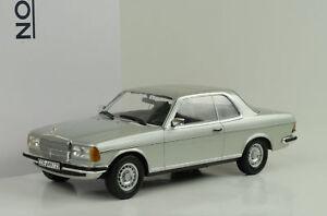 1980-Mercedes-Benz-280-CE-w123-COUPE-SILVER-ARGENTO-1-18-NOREV