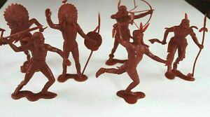 PLASTIMARX-Vintage-6-034-Native-American-Figures-1-6-Made-in-Mexico-Indian