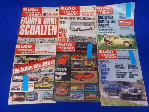 auto motor und Sport Zeitschrift Magazin Zeitung Automobil 1966 69 75  77 442