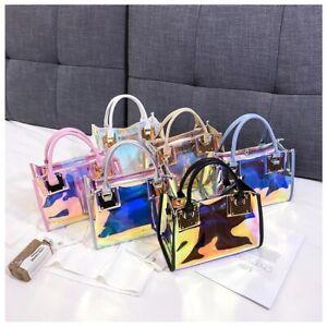 Women PVC Multi-Function Colorful Handbags Fashion Crossbody Bags Shoulder Bag