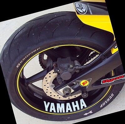 Yamaha decal sticker fz6r fzr r6 r1 600 rim fz8 fazer WHITE decals yzf zuma ttr